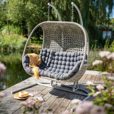 2021 Hartman Heritage Double Hanging Cocoon Chair - Ash/Slate