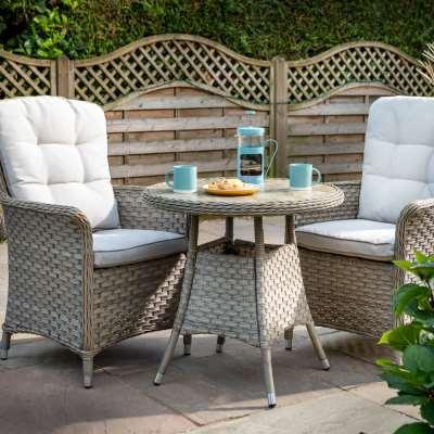 2021 Hartman Heritage Tuscan Garden Bistro Set With Table - Beech/Dove