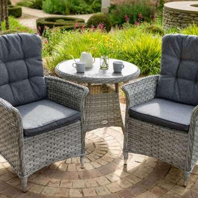 2021 Hartman Heritage Garden Bistro Table Set With Tuscan Tabletop - Ash/Slate