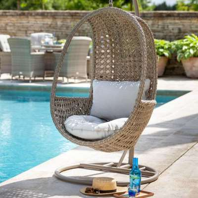 2020 Hartman Heritage Outdoor Hanging Chair With Cushion - Beech/Dove
