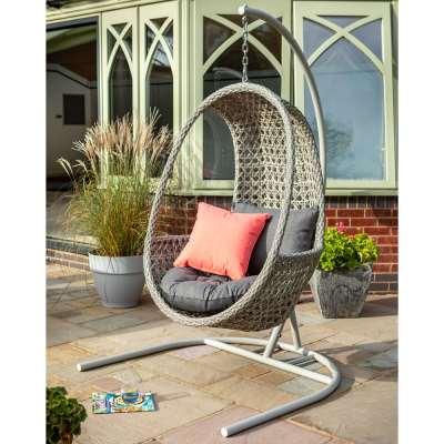 2020 Hartman Heritage Single Hanging Cocoon Chair - Ash/Slate