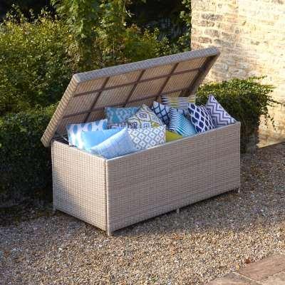 2021 Bramblecrest Monterey Outdoor Large Cushion Storage Box With Waterproof Liner - Sandstone