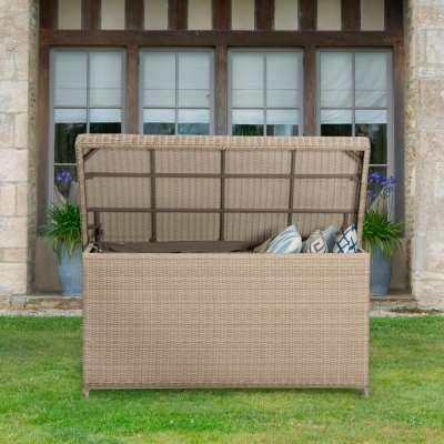 2021 Bramblecrest Monterey Outdoor Standard Cushion Storage Box With Waterproof Liner - Sandstone
