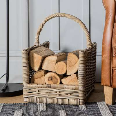 Cabin Log Carrier Basket