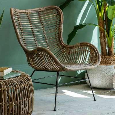 Japandi Lounger Rattan Chair