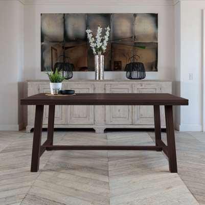 Kitsilano 2.2m Extendable Solid Oak Dining Table Set – Whitewash