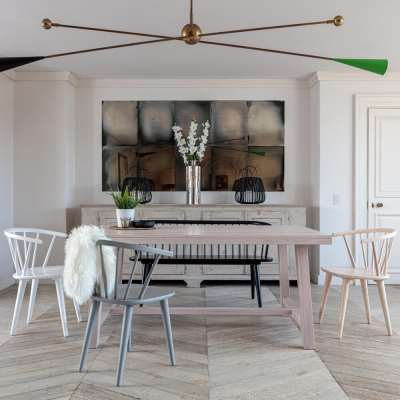 Kitsilano 1.7m Extendable Solid Oak Dining Table Set – Whitewash