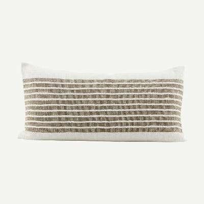 Kitty Cushion Cover Caramel Stripe