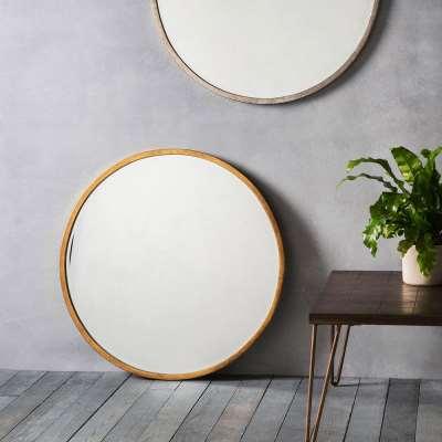 Smith Round Mirror in Gold
