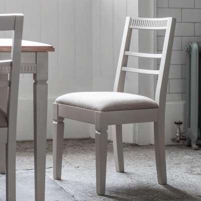 The Atlantic dining chair (2pk) Neutral