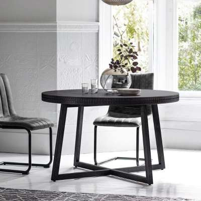 The Chic Black Round Dining Table (1.2m)