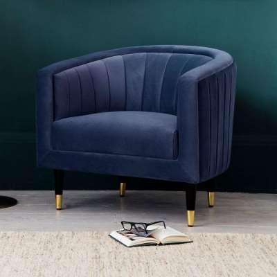 The Electric Blue Velvet Tub Chair