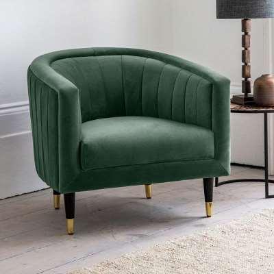 The Green Velvet Tub Chair