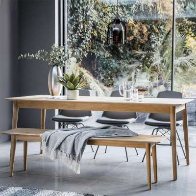 The Modern Light Oak Extending Dining Table Set (2m)