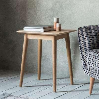 The Modern Light Oak Side Table