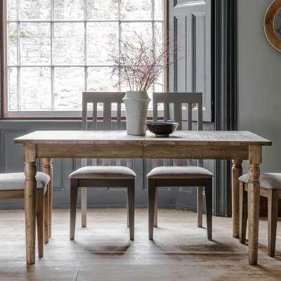 The Rural Extending Oak Dining Table Set – Smokey Oak (1.5m)