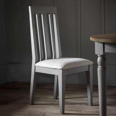 The Rural Oak Dining Chair - Slate Grey (2pk)