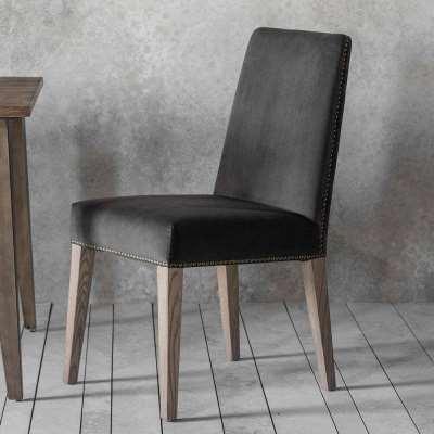 Victoria Dining Chair in Dark Grey Velvet (2pk)