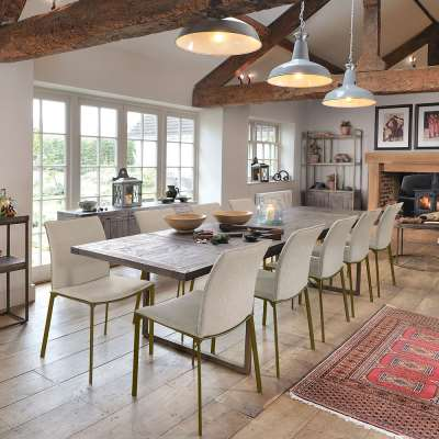 Wiltshire 1.8m Extending Dining Table - Nutmeg