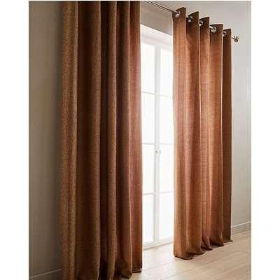 Basket Weave Lined Eyelet Curtains