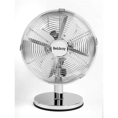 Beldray 10 Inch Chrome Desk Fan