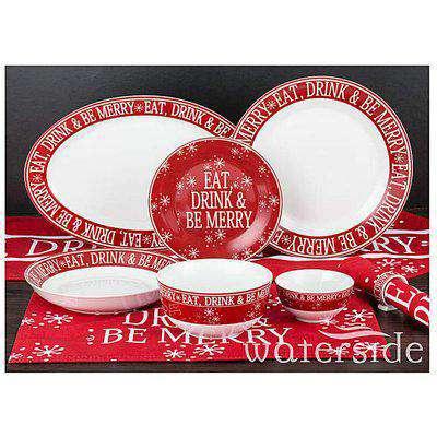 Christmas Box 50 Piece Dinner Set Red