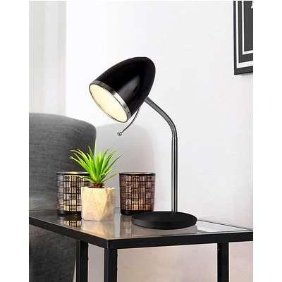 Grey & Chrome Desk Lamp