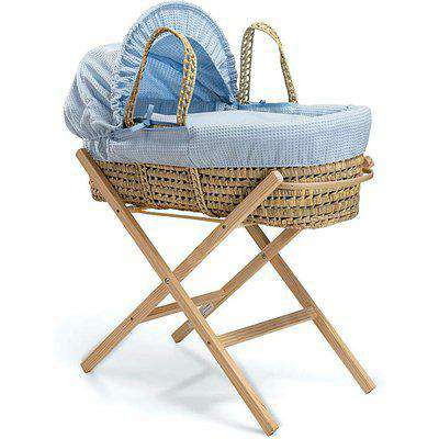 Clair De Lune Palm Moses Basket & Stand