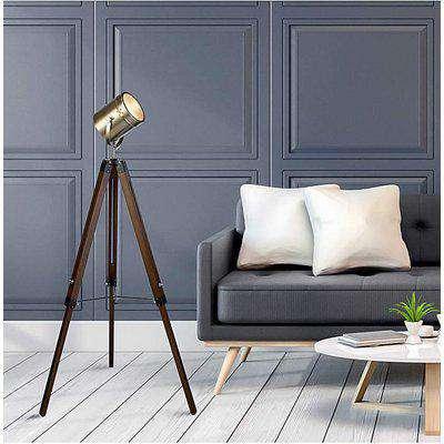 Easton Industrial Brass Floor Lamp