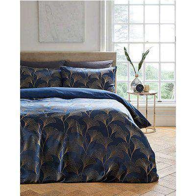 Ginkgo Floral Jacquard Duvet Cover Set