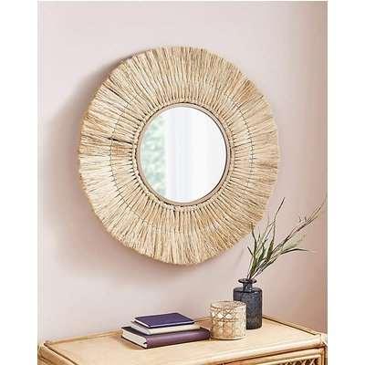 Grass Natural Round Mirror