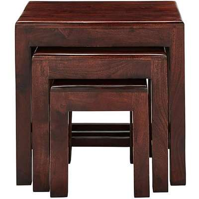 Jaipur Acacia Wood Nest of 3 Tables