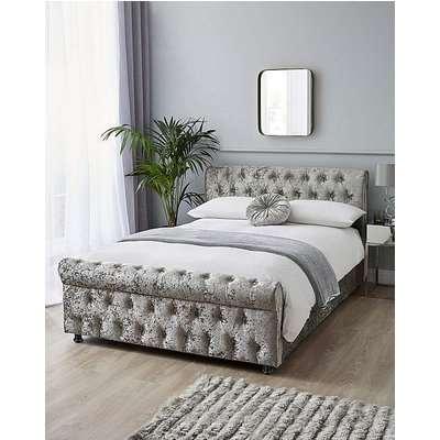 Kingston Velvet Bed with Memory Mattress