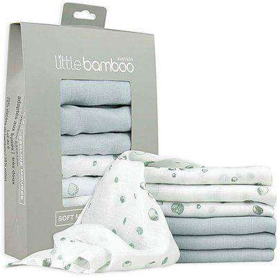 Muslin Baby Wash Cloths 6 Pack - Whisper