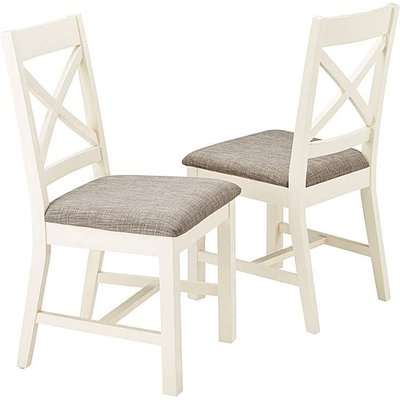 Norfolk Two Tone Pair of Dining Chairs