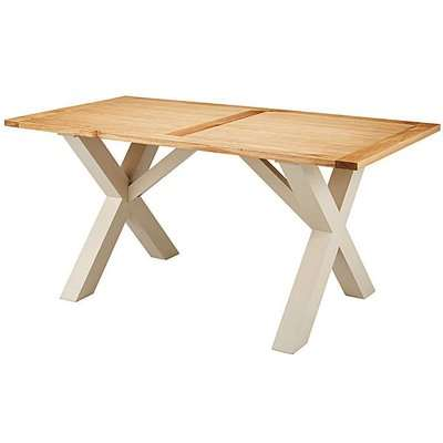 Oxford Crossbase Two-Tone Dining Table
