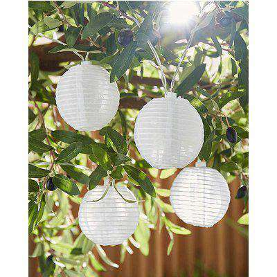 10 Paper Lantern Solar String Lights