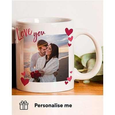 Personalised Love You Photo Upload Mug