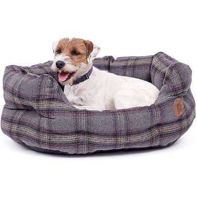 Petface Grey Tweed Oval Bed