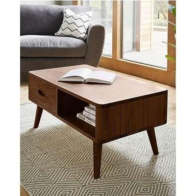 Peyton Walnut Storage Coffee Table