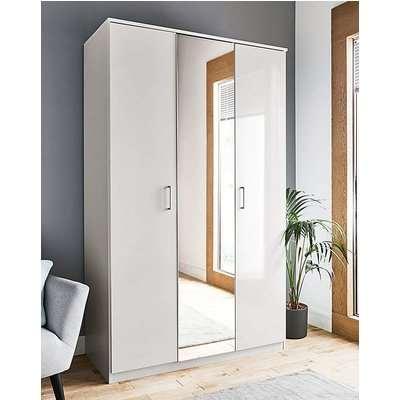 Porto Gloss 3 Door Mirrored Wardrobe