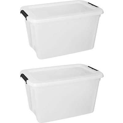 Set of 2 55L Storage Box with Lid