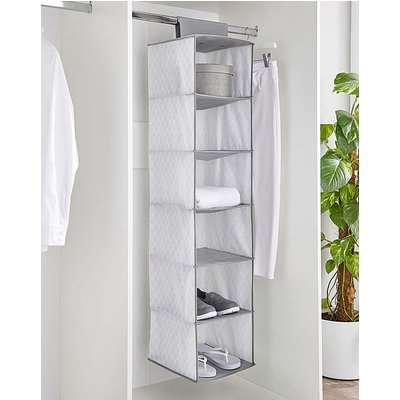 10 Shelf Hanging Wardrobe Storage