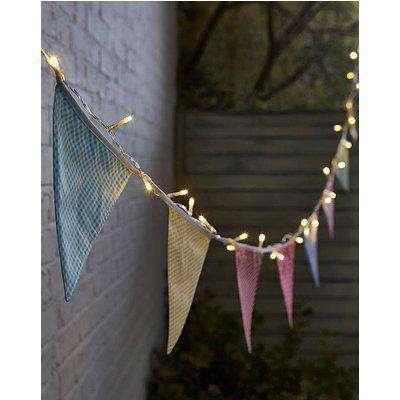 Solar Village Bunting String Lights