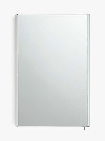 John Lewis & Partners Aluminium Single Mirrored Bathroom Cabinet