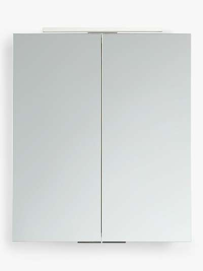 John Lewis & Partners Ariel Double Mirrored and Illuminated Bathroom Cabinet