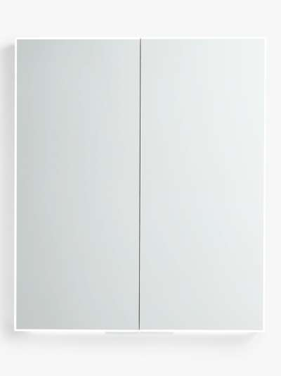John Lewis & Partners Aspect Double Mirrored and Illuminated Bathroom Cabinet
