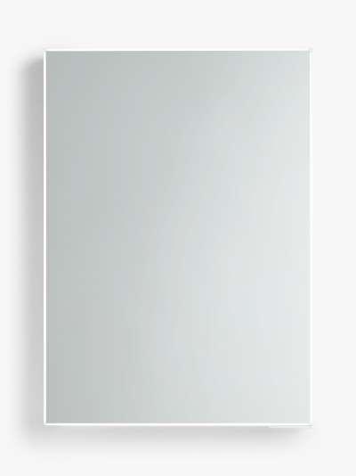 John Lewis & Partners Aspect Single Mirrored and Illuminated Bathroom Cabinet