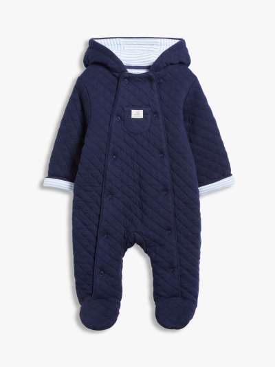 John Lewis & Partners Baby Quilt Wadded Pramsuit