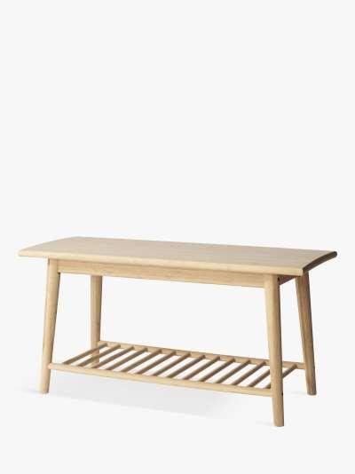 John Lewis & Partners Bamboo Shoe Bench